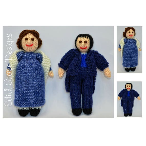Doll Knitting Pattern - Jane Austen Dolls - Toy Knitting Pattern ...