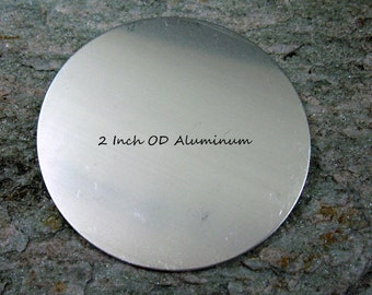 2 Inch Aluminum  or Copper Blanks, Round Stamping Blank, BULK LOT of 12, Ready to Ship!