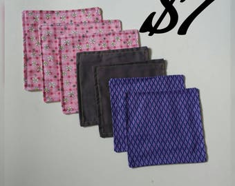 7pc bundle cloth napkins, clearance, discount, deal, reusable napkins, table napkins, cotton napkins, assorted, ready to ship, fast shipping