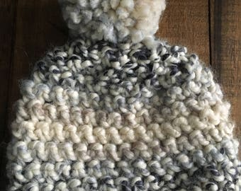 Ready to Ship: 6-12 Months Moonlight Crochet Toque