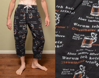 a808a99d722 vintage 80s 90s muscle pants baggy hammer pants harem surf skate Street  Power California 1980 1990 free size German theme beer stein AZCO