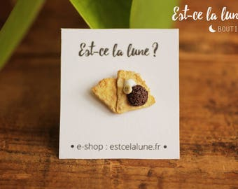 Badges Crepe chocolate miniature (french pastry)