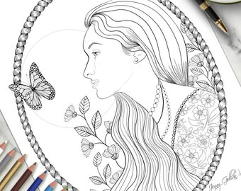 Printable Colouring Page Delicate
