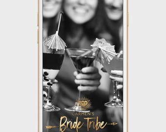 bride tribe snapchat filter, bride tribe geofilter, bridal shower geofilter, bridal shower snapchat filter, bachelorette party filter, gold