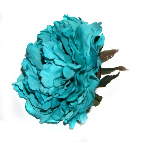 1 bright turquoise peony boutique silk flowers artificial 1 bright turquoise peony boutique silk flowers artificial flower heads pre order mightylinksfo