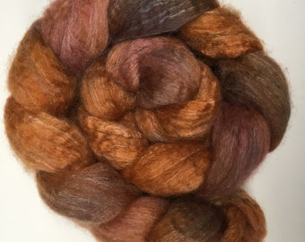 Spinning Fibre Bluefaced Leicester & Silk hand dyed superwash (E02)