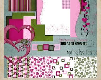 Spring Has Sprung Digital Scrapbooking Kit