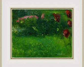 Flowers&Greenery, Alla prima, Original Oil Painting, Plein Air, nature art lover gift, impressionist painting, mother nature, landscape