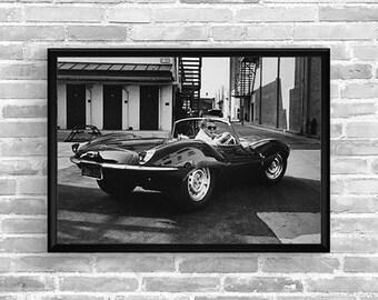 STEVE MCQUEEN Jaguar XKSS - Garage workshop Limited Edition - Vintage poster