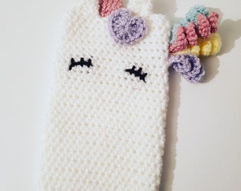 Phone Case. Unicorn Phone Case. Iphone Case. Samsung Case. Unicorn Case. Unicorn Gifts. Unicorn Accessories. Crochet Phone Case. Unicorn.