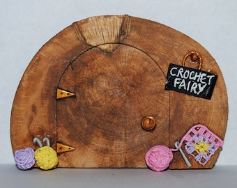 Magical, Crafty Crochet Fairy Door - Hand Crafted by Mary-Beth Originals