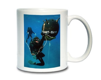 Coffee Mug; Mine Removal U.S. Navy Explosive Ordnance Disposal (Eod) Divers. Mine Removal