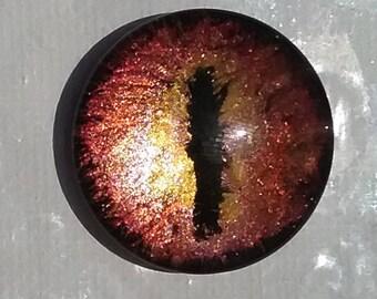 Peint à la main Seigneur de le œil d'anneaux de Sauron le Hobbit Smaug Fire Dragons oeil Collier pendentif