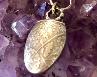 Designer J Bohan Sterling Silver 18kt Gold designer Pendant Necklace