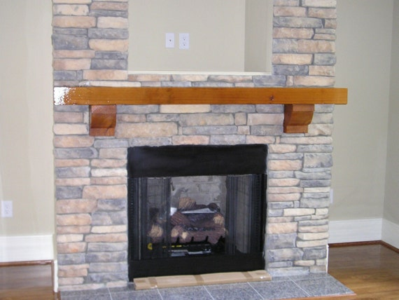 SMOOTH CEDAR MANTEL WITH 2 CORBELS MEASURES 6X 10X 72(6)
