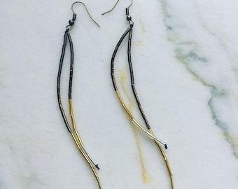 Into the Light - Long Seed Bead Earrings