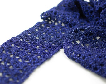 Crochet Scarf Pattern: Glamour Scarf, PDF download