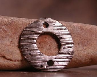 Metal Clay Connector, Bronze Washer, White Satin Bronze, Divine Spark Designs, SRA