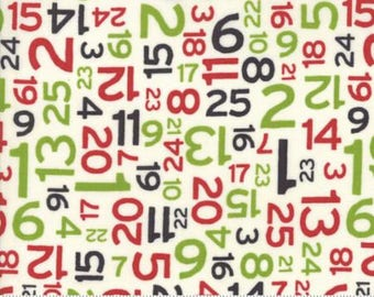 Moda - Hometown Christmas - Christmas Countdown - Multi - Fabric by the Yard 5665-11
