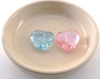 Beads Glass Heart 21 x 19mm
