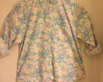 Vintage Floral Long Sleeve Button Up