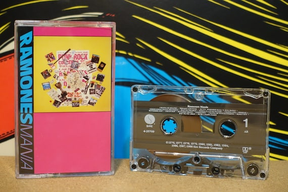 Mania by Ramones Vintage Cassette Tape