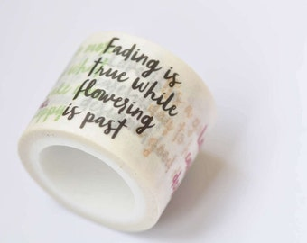 Inspirational Quote Washi Tape 30mm Wide X 5 meters Long No.12282