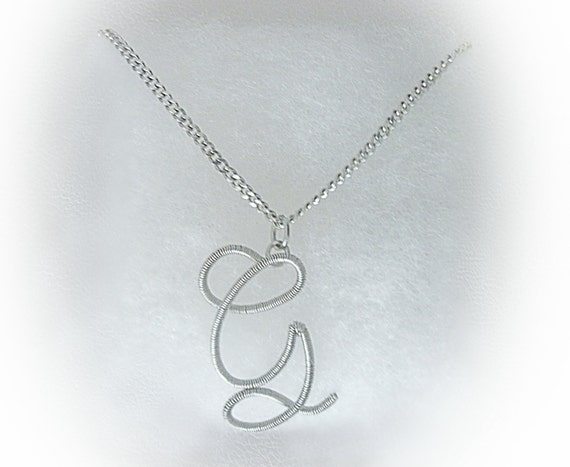 Mens initial silver letter g pendant with chaincustom made te gusta este artculo aloadofball Images