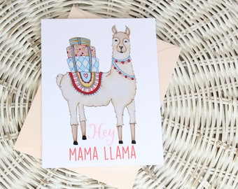 Mother's Day Notecard - Mama Llama