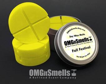 Fall Festival - (Cinnamon, Orange Zest, Marshmallows, Brown Sugar & Nutmeg) - Soy Wax Melts - Scented Wax Melts