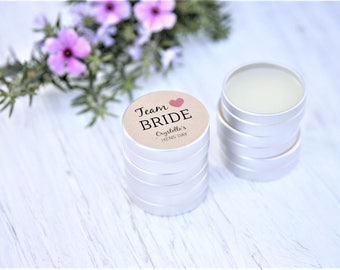 Team Bride Party Favours, Hens Lip Balm, Cruelty Free, Hens Party, Bachelorette Favours, Personalised Favours, Lip Balm Favours