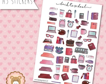 """Planners Stickers """"Back To School"""""""