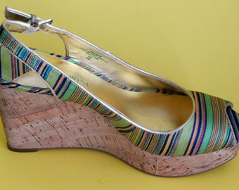 Multi-Colored Lime Green Wedge now reduced 20 percent