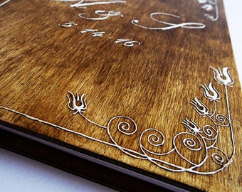 Personalized Wedding Rustic Guest Book / Wedding Guest Book / Wood Wedding Album