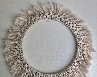 Macrame wreath | macrmae art | macrmae wall hanging