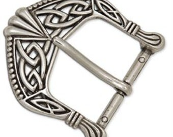 """Celtic Buckle 1-1/2"""" (38 mm) Antique Nickel Plate 1637-02 by Tandy Leather"""