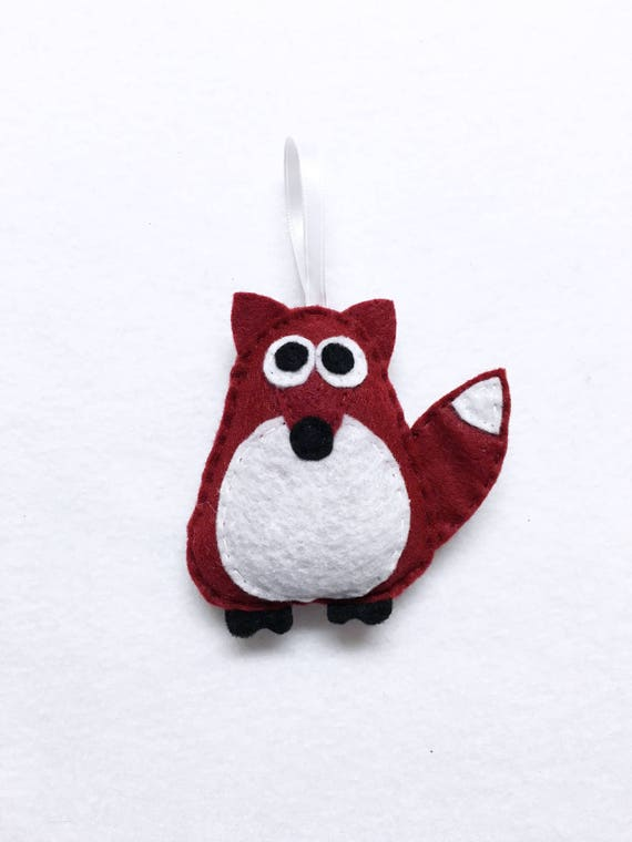 Fox Ornament, Ornament, Christmas Ornament, Rupert the Brick Red Fox, Felt Animals, Gift Toppers