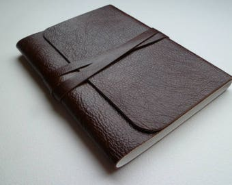 Leather Sketchbook Leather Journal Travel Journal Shiny Brown Grained Leather.
