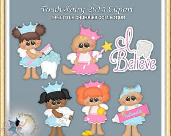 Baby Girl Clipart, Chubbies, Tooth Fairy 2015