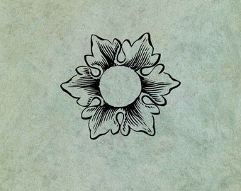 Flower Flourish LARGE - Antique Style Clear Stamp