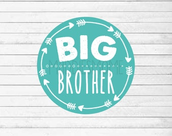 Big Brother Printable Iron on T shirt Transfer - DIY T shirt Decal - Instant Download (Big Brother Arrows)