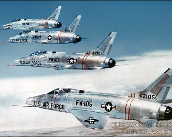 Poster, Many Sizes Available; F-100 Super Sabre P1 - Copy