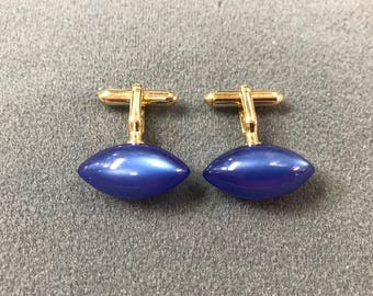 Blue Moonglow Swank Cuff Links. Free shipping.