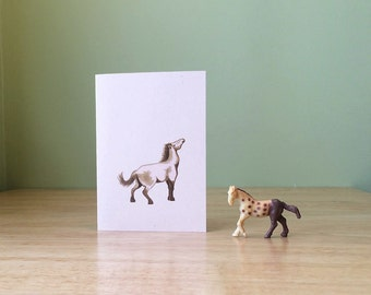 Horse note card. Small blank card featuring the Asian wild horse, with text about its natural history on the back.