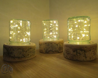 Small Log Lamps