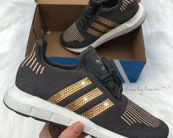 Swarovski Adidas Swift Run Dark Gray