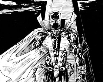 Image Comics Spawn, Ink Drawing
