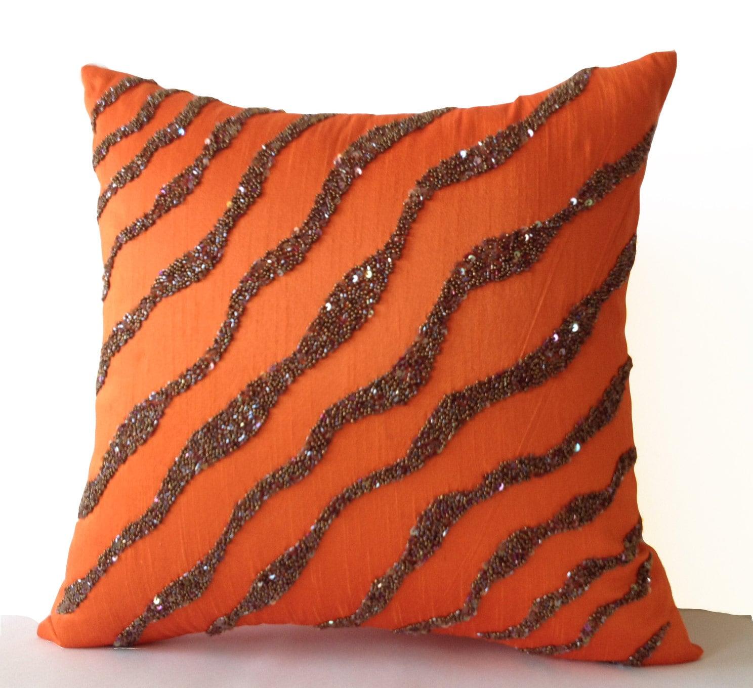 orange maxen canary pillow lumbar yellow