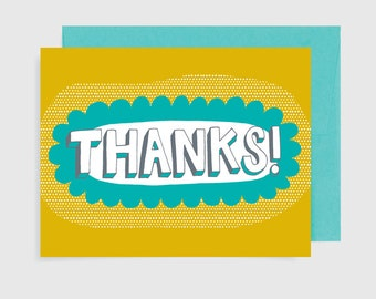 Thank You Card - Thanks Lettering
