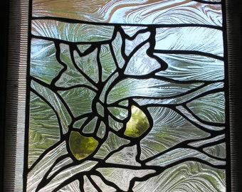 "November 10-7/8"" X 12-5/8"" Stained Glass Seasonal-Calendar Pattern PDF B&W Digital Download"